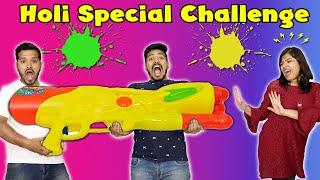Biggest Holi Challenge | Biggest Holi Gun Challenge | Hungry Birds