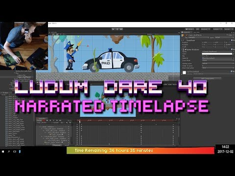 2D platform game from scratch in 48h - Ludum Dare 40 - Narrated Timelapse