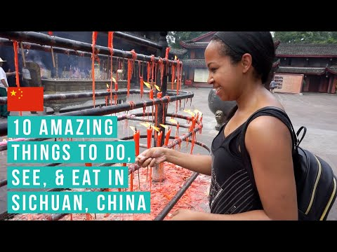 TRAVEL VLOG // 10 Amazing things to see & eat in Sichuan, Ch