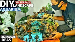 Making Waterfall Aquarium Mini…