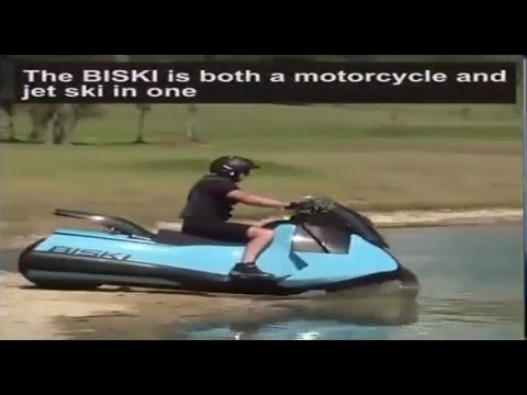 The Amphibious Jet Ski Scooter Motorcycle For Land Or Water