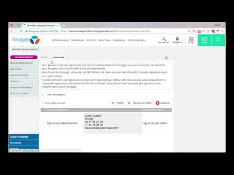 Comment changer la signature email de ma messagerie Bbox