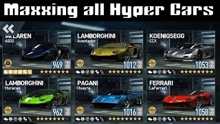 Need for Speed: No Limits | Maxxing all Hyper Cars !