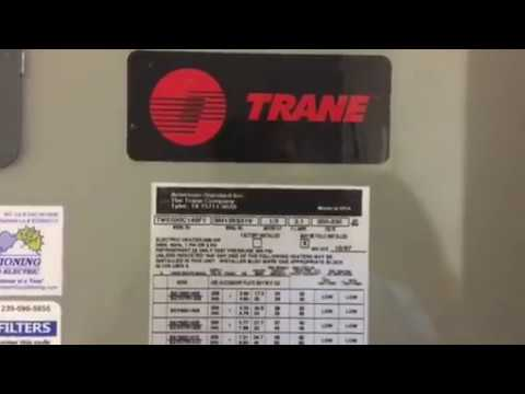 How old is my Trane Air Handler?