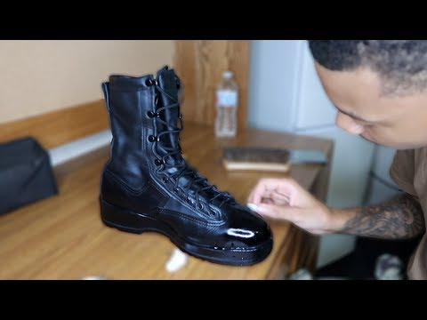 HOW TO SHINE MILITARY BOOTS! 2019
