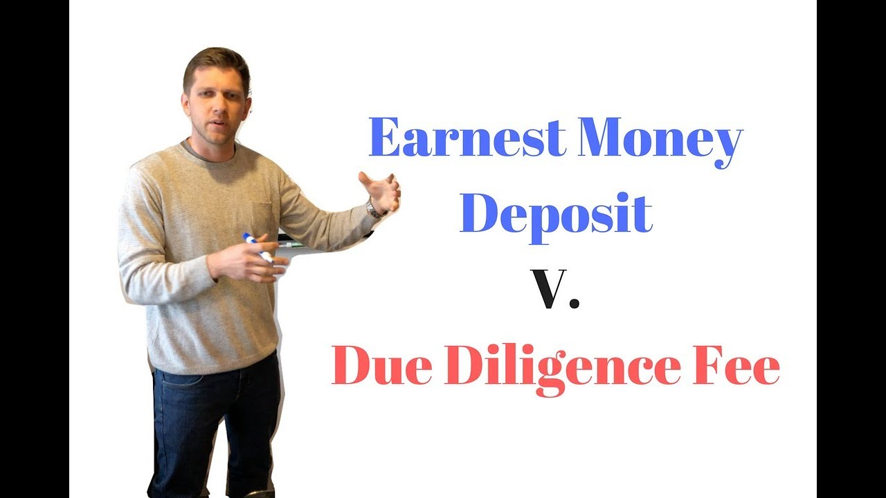 Whats the Difference Between Earnest Money Deposit &  Due Diligence Fee | WB Wed #3
