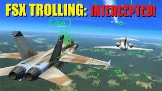 FSX Multiplayer Trolling: Fighter Jets INTERCEPT a Group Flight (Steam Edition)