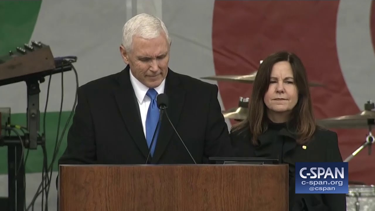 "Word for Word: VP Pence on President Trump: ""Most Pro-Life President in American History"" (C-SPAN)"
