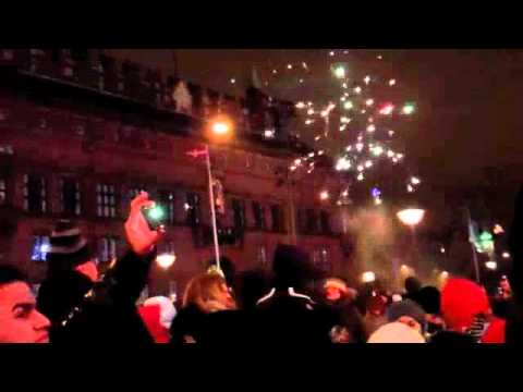 New Years at Rådhuspladsen (city hall square) in Copenhagen