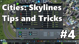 Cities: Skylines - Tips and Tricks #4 - Managing your city's budget