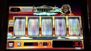 Zeus WMS Slot Machine Bonus Round