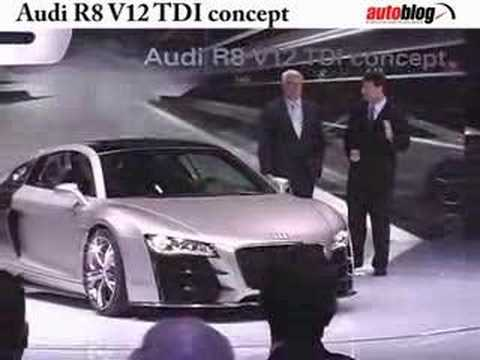 Audi R8 V12 TDI concept unveiled at Detroit Auto Show