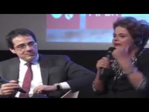 Dilma Rousseff falando francês