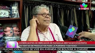 Comerciantes de Managua destacan dinamismo en ventas par temporada de la purísima y navidad