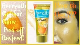 Everyuth Golden Glow Peel off Mask | With 24 Karat Gold | Review, Price, How to Use