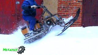 Полное испытание ДИКОГО электро снегохода!!