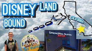 SpringHill Suites Marriott Anaheim MainGate Hotel Tour!!! Travel Day Cali Trip Vlog 1