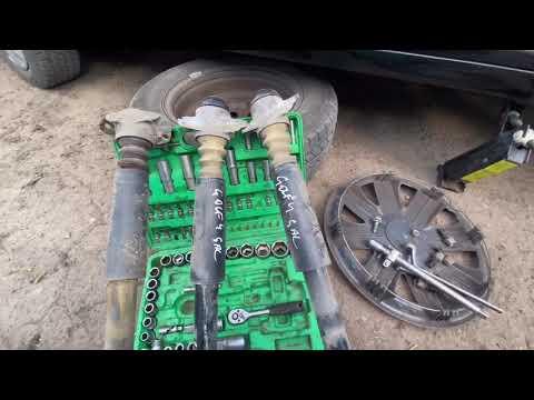 Замена задних амортизаторов VW Golf 4. +замена отбойника и подушки
