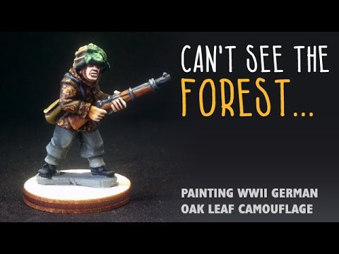 Can't see the forest: Painting WWII German oak leaf camo