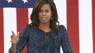 Michelle Obama hits Trump on debate performance, birtherism