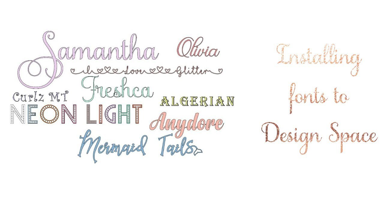 Install Fonts to Cricut Design Space