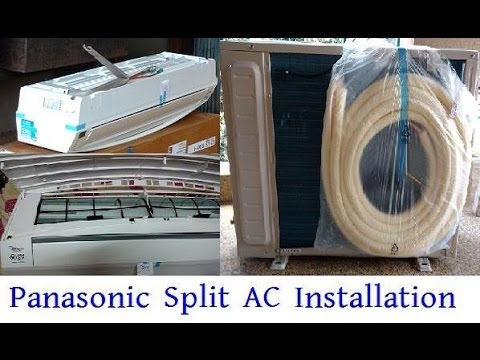 panasonic split ac installation panasonic us18sky 1. Black Bedroom Furniture Sets. Home Design Ideas
