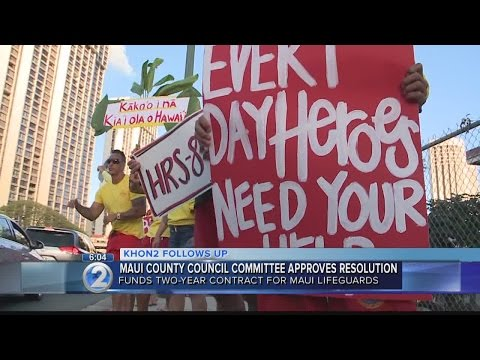 Maui County council committee approves funding for new lifeguard contract