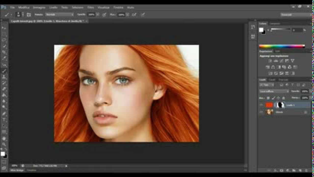 Come cambiare il colore dei capelli Adobe Photoshop CS6 - YouTube 9f1c083a61c5