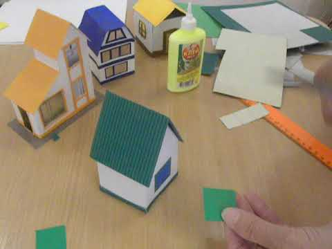 Как сделать фото как сделать домик из картона своими руками