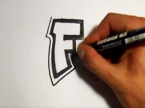 how to draw graffiti alphabet letters f