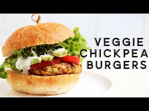 VEGGIE CHICKPEA BURGERS || gluten free recipe!