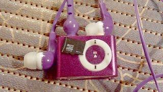 MP3 плеер прямоугольной формы Micro SD TF карта 8GB