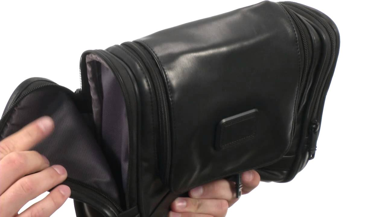 Tumi Alpha 2 - Hanging Leather Travel Kit SKU  8434555 - YouTube c195a2ec8a4bd