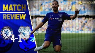 HATTRICK HAZARD SEALS WIN! || GIROUD STAKES CLAIM FOR No1 SPOT! || Chelsea 4-1 Cardiff City Review