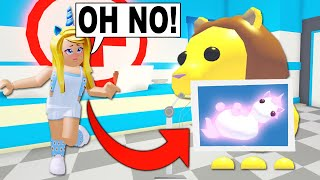 My Legendary Lion ATE My NEON Unicorn In Adopt Me! (Roblox)