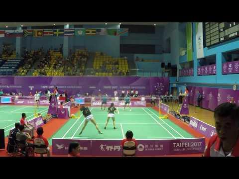 2017 Universiade Badminton WD Quarterfinal (USA vs THA)