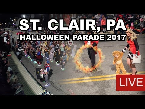 LIVE: St. Clair, PA Halloween Parade 2017 - Presented by MHP