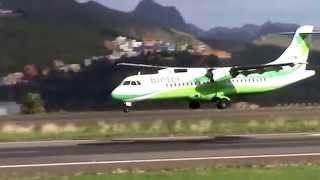 Aterrizaje Binter en Tenerife Norte