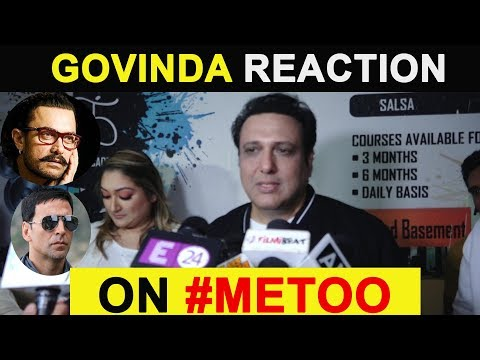 Govinda Reaction On Akshay Kumar & Aamir Khan Support On #metoo Movement