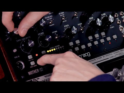 Moog Mother-32 Step Sequencer Video Tutorial| How To Choose A Bank?