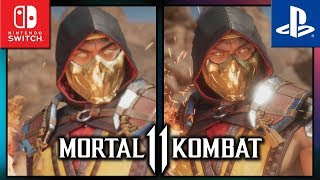 Mortal Kombat 11 | Switch VS PS4 | Graphics Comparison & Frame Rate Test