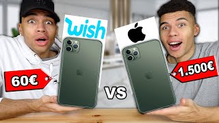60€ iPhone 11 Pro Max VS 1500€ iPhone 11 Pro Max !!! (ORIGINAL VS WISH) | Kelvin und Marvin