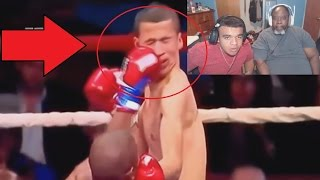 Dad Reacts to Top 25 Crazy Brutal Boxing Knockouts!
