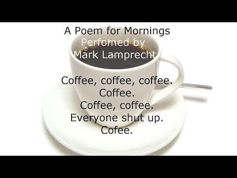 """A Poem for Mornings"" performed by Mark Lamprecht for National Poetry Day."