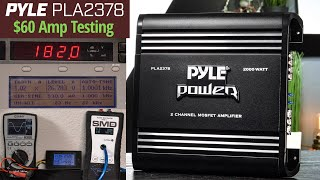 $60 AMPLIFIER - Pyle PLA2378 Power Output Testing and Review