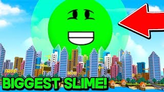 The Biggest Slime Ever! (Roblox Slime Simulator)