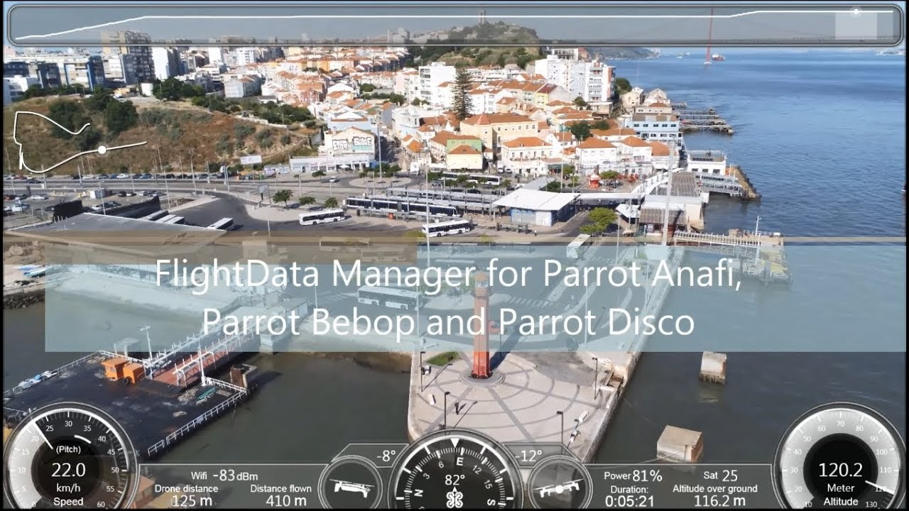 FlightData Manager for Parrot Anafi, Parrot Bebop and Parrot Disco