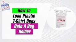 How To Use A T-Shirt Bag Bagging Stand Plastic Bag Holder