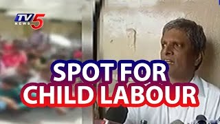 Children relieved from Child Labour by Officials in Hyderabad | Telugu News | TV5 News