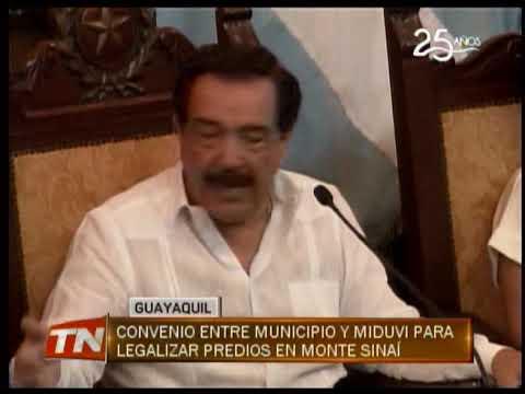 Convenio entre municipio y Miduvi para legalizar predios en Monte Sinaí